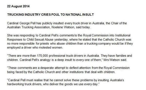 @steveirons @TaodeHaas Pell's upset the Australian Trucking Assn https://t.co/VgWd7lM2ut