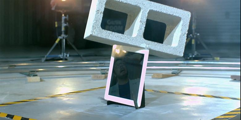 Watch An iPad Get Destroyed In Super Slow Motion By A Falling Cinder Block http://t.co/MDCH8tg8Vn http://t.co/Ft7uMWlNGs