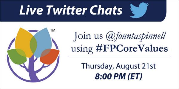 In one hour, join us tonight for our next Twitter chat at 8pm (ET). We'll be talking #FPCoreValues http://t.co/tH1bXE3ls2