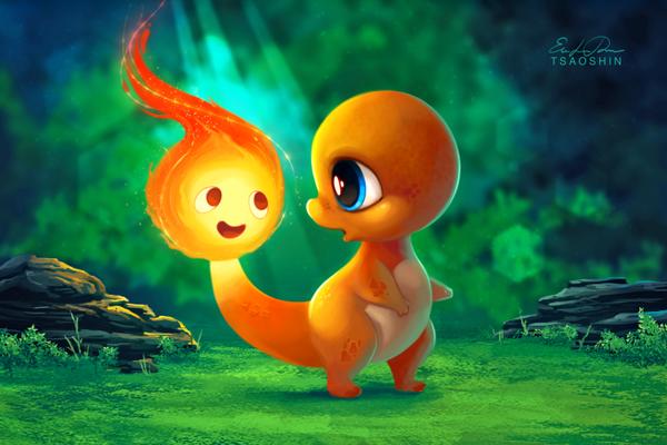 "Tsao On Twitter: ""I Like Your Spark! #pokemon #calcifer"