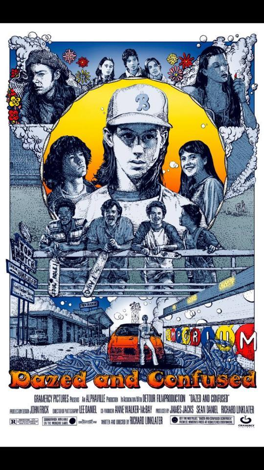 Look at this lovely new Dazed and Confused poster by artist David Welker- http://t.co/wT9iZJnnAh