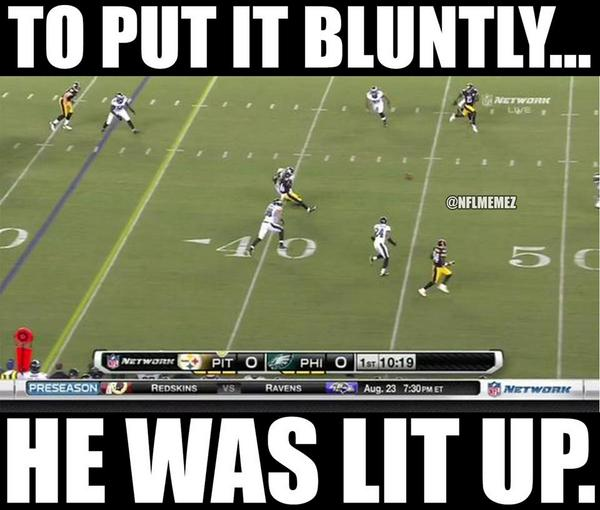 Nfl Memes On Twitter Steelers Rb Leveon Bell Gets Owned By