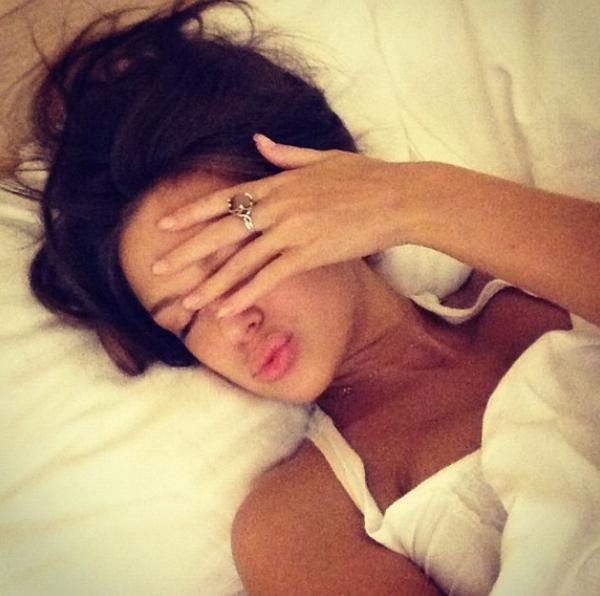 on bed girl selfies Teen