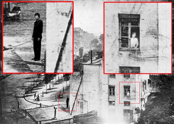 Hang on!!! RT @BBC_Culture: The first photograph ever to feature a human was this taken in Paris in 1838. http://t.co/v6wz8q8bYw