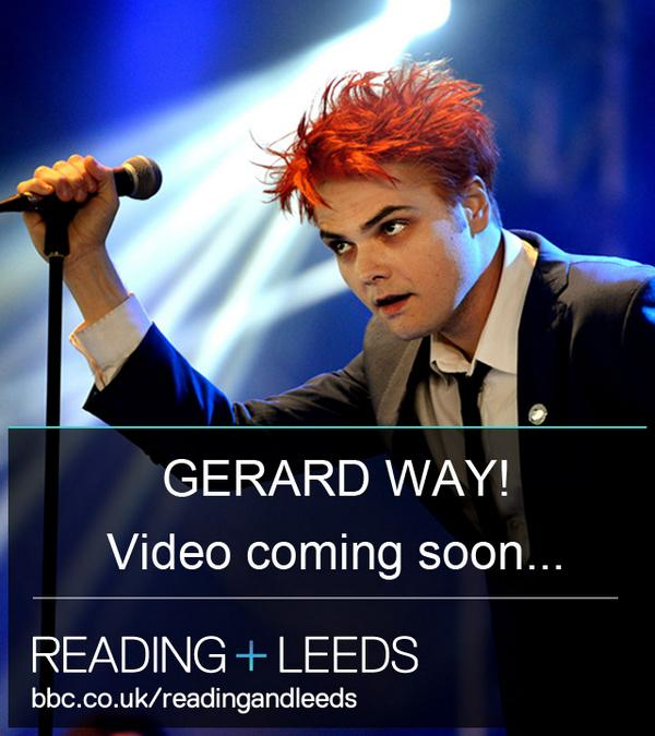We'll have something special for you @gerardway fans very soon - stay tuned #bbcreadingfest #RandL14 http://t.co/6swAFeDPFg