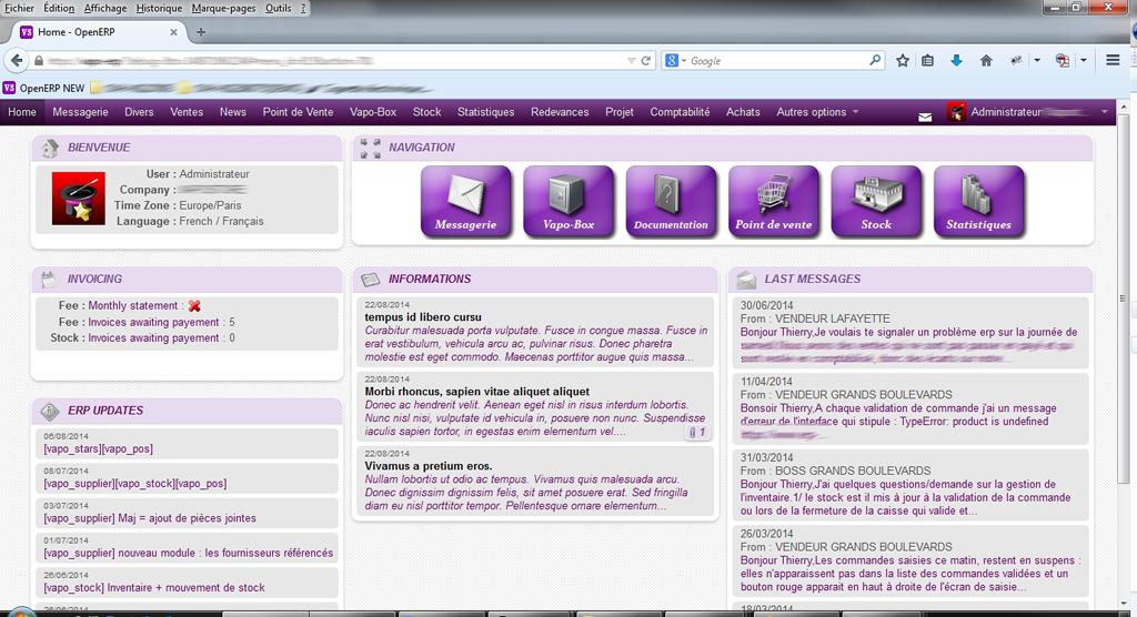 Odoo7 Homepage