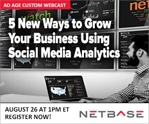 We are hosting a free webcast: 5 New Ways To Grow Your Business Using Social Media Analytics on 8/26 from 1-2pm! http://t.co/OYnygDt2hl