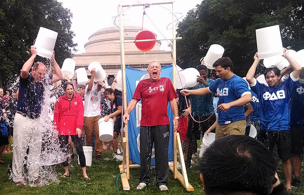 Thumbnail for MIT President Reif and the ALS Ice Bucket Challenge