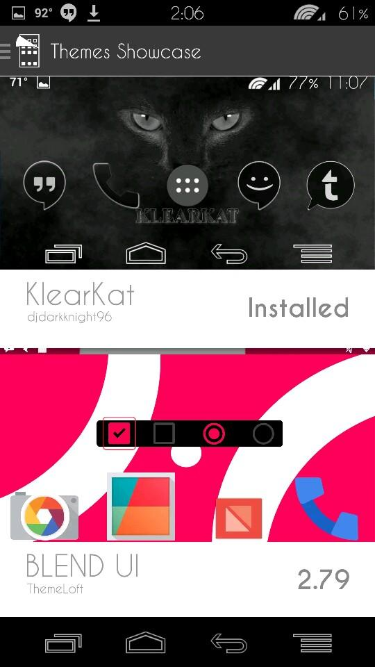 #klearkat showcased in CM11 now...spread the word....VERY FIRST FULL KLEAR THEME IN THE SHOWCASE! http://t.co/ZkwoOzv3ml