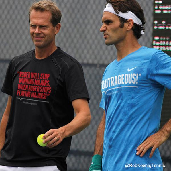 Hahaha....Too funny!!! How do people do this stuff...Commentary shirts (photo shopped) for US Open. #fedberg http://t.co/cCeCInP3Pj