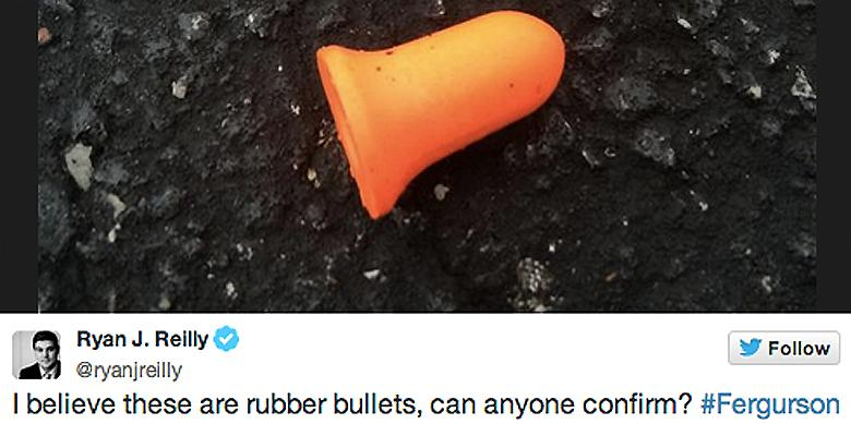Reporter Mistakes Ear Plugs For Rubber Bullets, Internet Responds With Ridicule http://t.co/LDLUsDSwYO http://t.co/2IpMVS3KH6