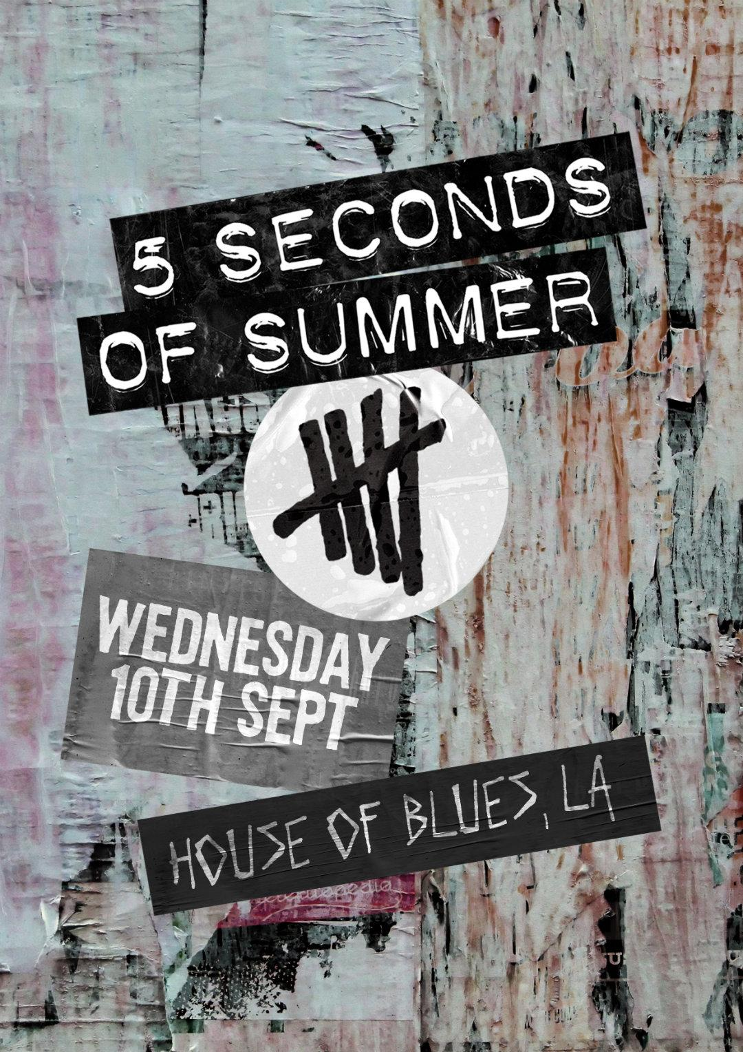 5sos 5 seconds of summer sept september 10 10th 9/10 la los angeles ca cali california hob house of blues special show performance
