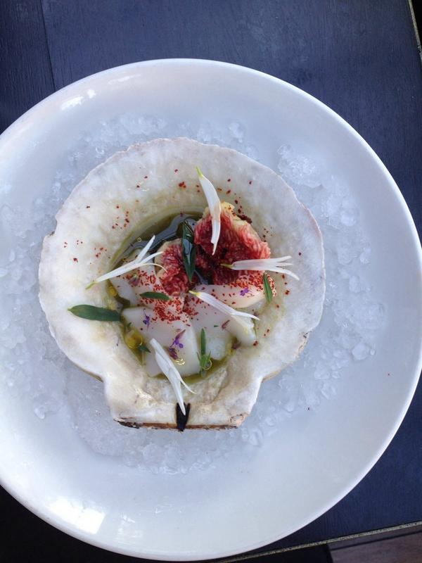 @TheStudiocity fresh diver scallop w Regier Farms Figs, CA Espellete and pine juices http://t.co/luzBDRgryO