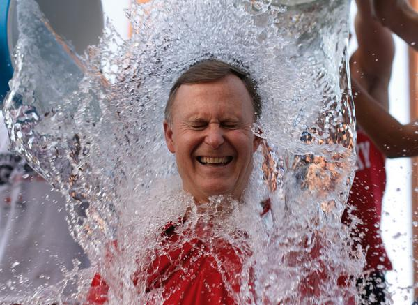 WKU President @WKUGaryRansdell  participates in the ALS ice bucket challenge on Friday. http://t.co/5o40YGLzM1