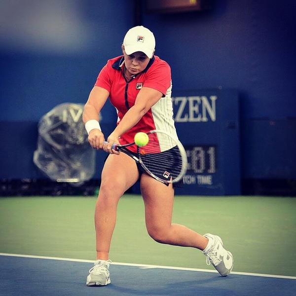 #Bartyparty Well done! RT @ashbar96: Happy to get through to main draw here in NYC! Love the US Open