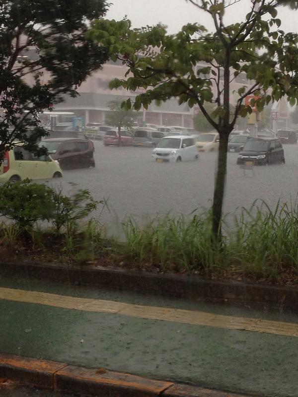 鈴鹿のベルシティ、冠水した#鈴鹿 pic.twitter.com/hw331n8clG