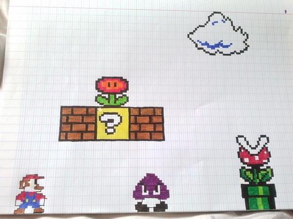 Pixel Art On Twitter Décor Mario Avis Httptco