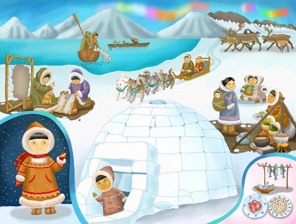 Мальчику, картинки крайнего севера для детей