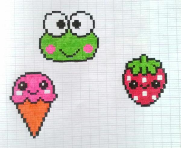 Pixel Art On Twitter Glace Grenouille Fraise Http