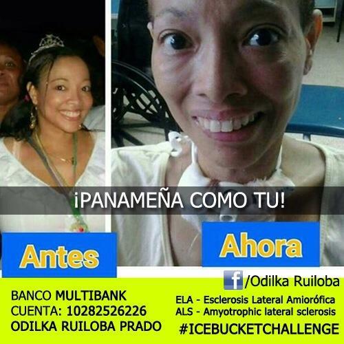 ODILKA es Panameña como tú! DONA, haz el reto y comparte esta imagen. #IceBucketChallenge #Panamá #C3 #Colon #ALS http://t.co/NwAMb79VvO