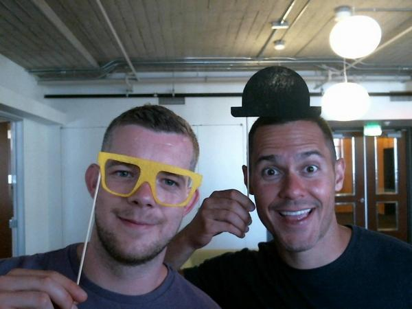 Photo of Russell Tovey & his  Brother  Daniel Tovey