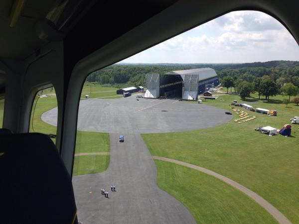 Looking back at Wingfoot hangar. http://t.co/4EdH3uiXZz