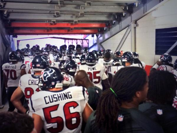 .@briancushing56 & the #Texans are ready to take the field. #WeAreTexans #TexansPreseason http://t.co/eI9kdmZ9J3