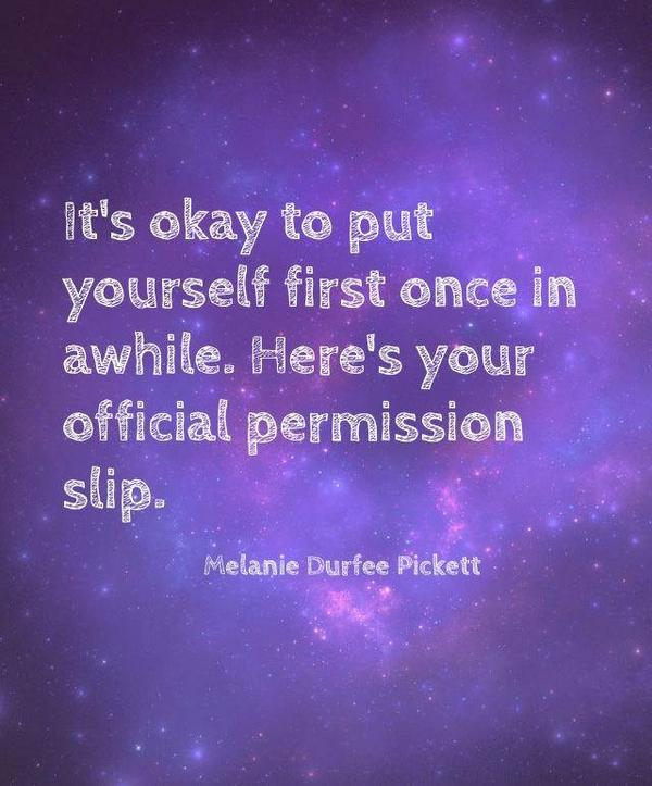 Image result for it's ok to put yourself first every once
