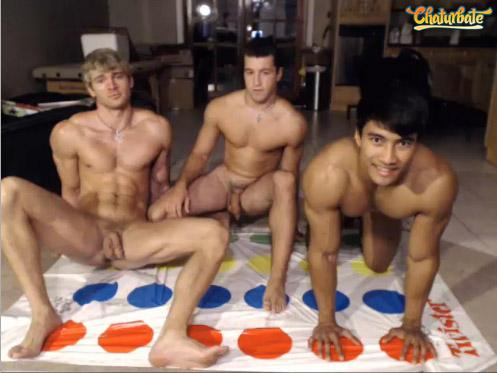 Male naked twister