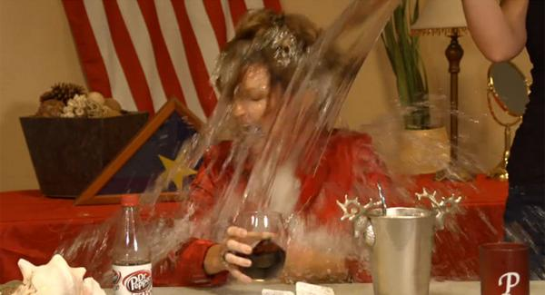 Sarah Palin Takes Ice Bucket Challenge VIDEO