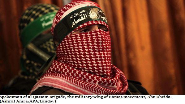 If #Hamas is not a terror group, why does their spokesperson dress up like a terrorist? #justsayin #Gaza http://t.co/g3v8cvDfIm