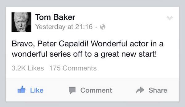 Relax, Doctor Who fans. The definitive article has spoken... http://t.co/DBAoROcFTK