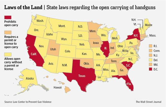a discussion on the legalization of concealed weapons in the united states Acevedo noted that texas recognizes concealed-carry permits from california, even though the two states may seem to have differing political outlooks.