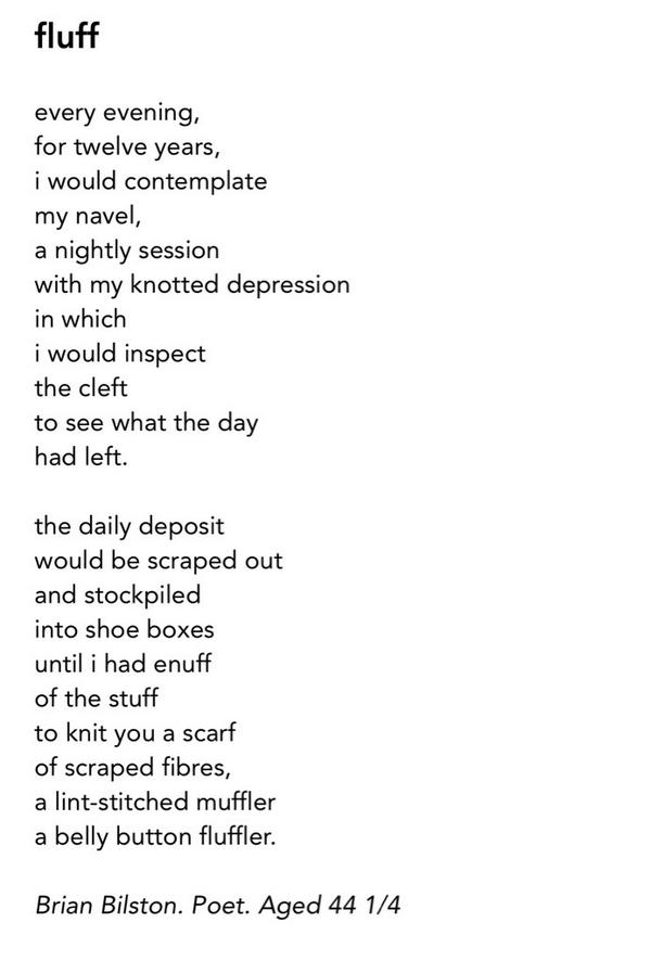 Brian Bilston En Twitter Heres A Poem About Belly Button