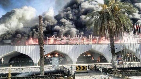 This is what used to be called #Tripoli International airport, set on fire by militias after 'liberating' it #Libya http://t.co/lXJk00N41F