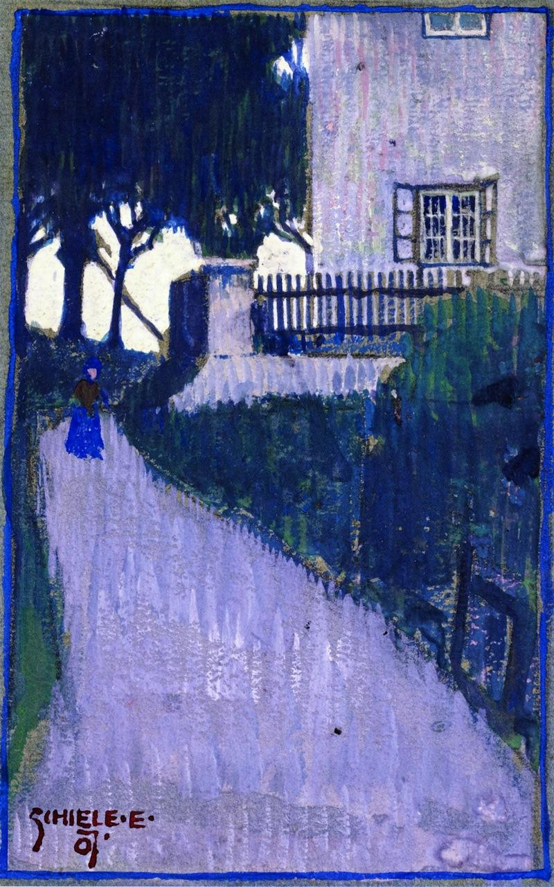 Landscape with House, Trees and Female Figure