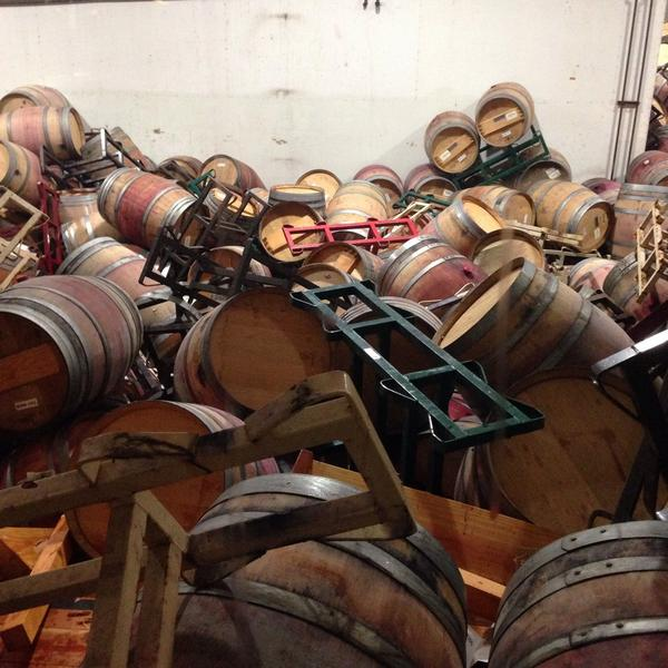 Sorry! Hope you can save most of the wines RT @matthiassonwine: Will be barrel pickup sticks #napaearthquake http://t.co/NNjH5Ln75L