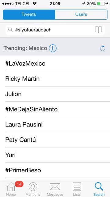 Y así los TT de México @LaVozMexico @lavozmexicofans http://t.co/dpNkRRn2W5