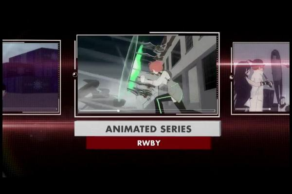 YEEAAA! #RWBY won best animated series and best new score at the #streamys http://t.co/xjjEXYUm4c