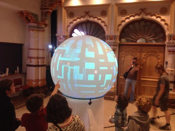 One of our most favourite projects TODAY! RT @crashposition: Spherical pacman at @MakerFaireBTN http://t.co/4AnaL0KOmv #BDF14 #BMMF