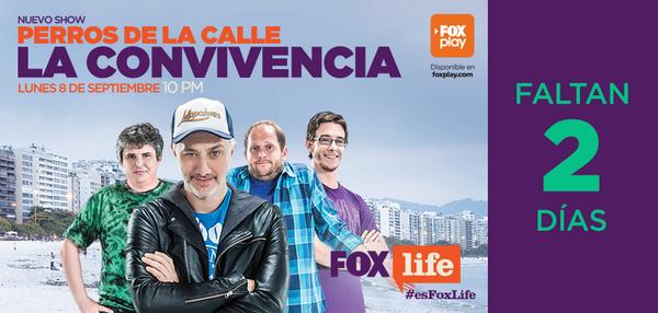 ¡Faltan 2 días para el estreno de @perroscalle #LaConvivencia! Lunes, 10 PM. http://t.co/vSdJoRuldb