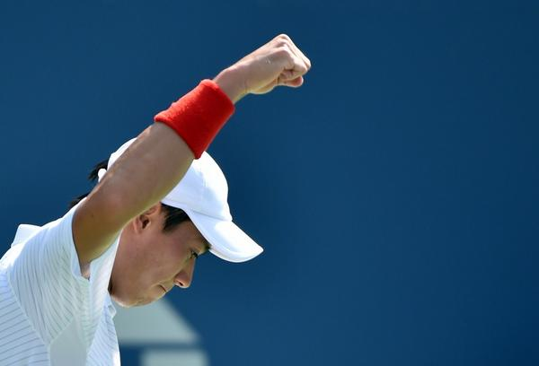 錦織圭, 優勝. Kei Nishikori, winner.  6-4 1-6 7-6 6-3 #bbctennis http://t.co/MjtkHARQBK