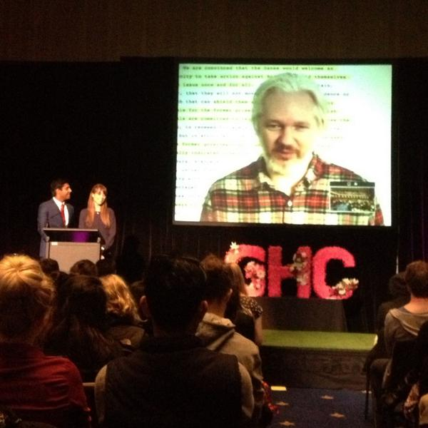 Thumbnail for Julian Assange speaks at AMSA Global Health Conference