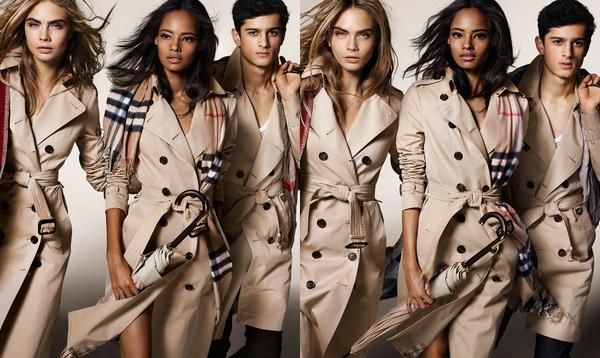 fe85f6b4390 the heritage collection gabardine trench coats amp cashmere check scarves in  the burberry a w14 campaign