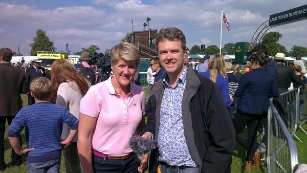 RT @robpersani Huge respect for @clarebalding not only one of the best presenters ever also time for me before live @burghley_horse