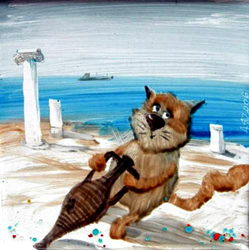 Картинки про море прикольные нарисованные