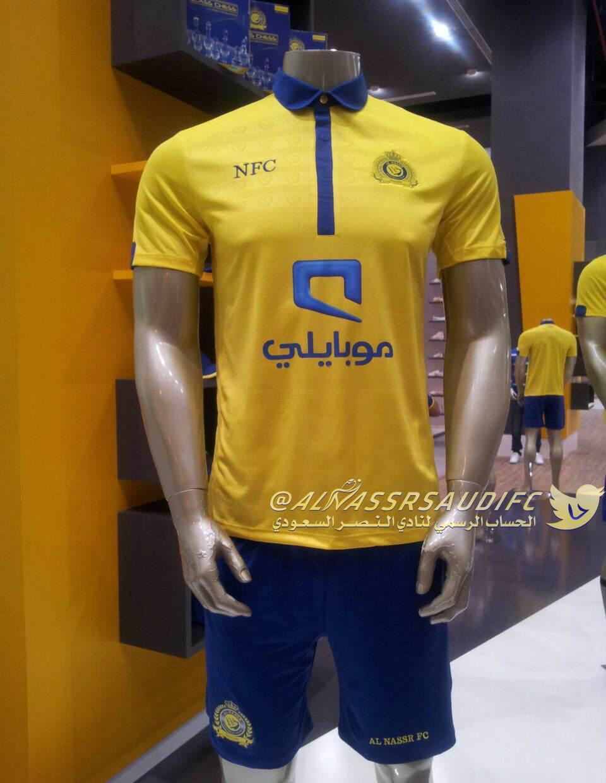 يبدأ اليوم متجر نادي النصر في بيع الطقم الأول للفريق ( الأصفر ) NFC