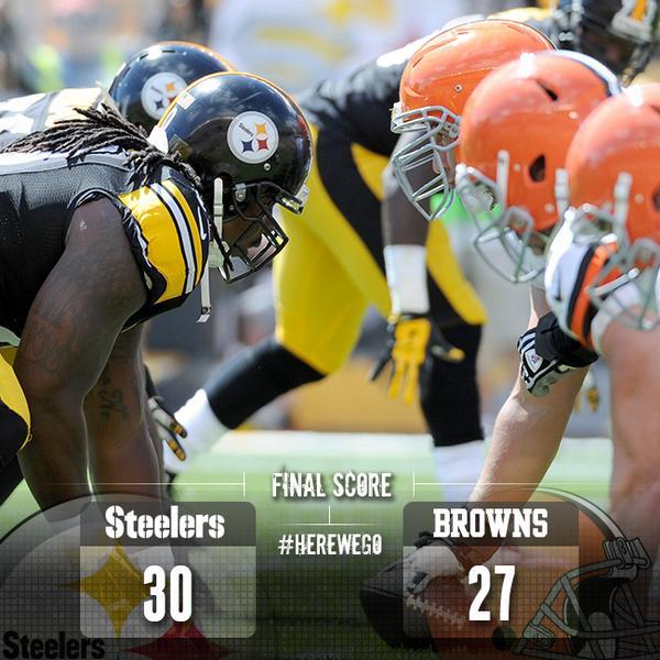 Pittsburgh Steelers On Twitter Final Score Steelers 30