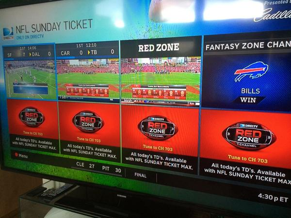 hey idiots at directv you don t need red zone on game mix when