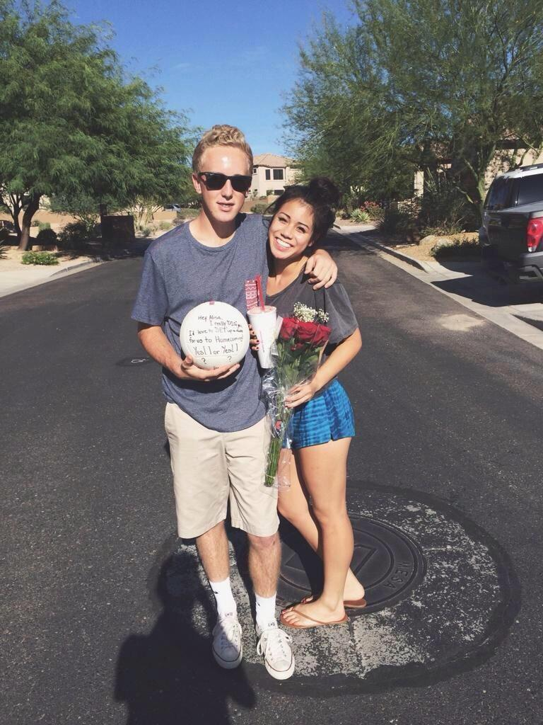 """homecoming proposals on twitter: """"if your girl plays volleyball"""